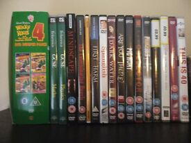 Job lot of English movies and series.