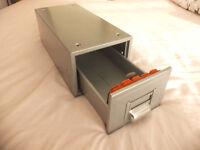 Card Index Drawer – Metal – Vintage – 30x14.5x10.5cm Approx. - Card size 10x6cm Approx £20