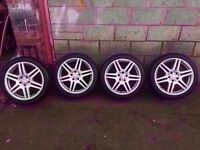 "Genuine Mercedes Audi Amg Alloys Staggered 18"" CAN SELL SINGLES PART EX WELCOME CAN POST 5*112"