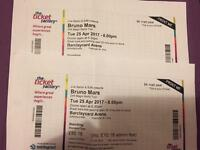 Bruno Mars tickets x2