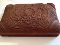 Very intricately carved wooden box