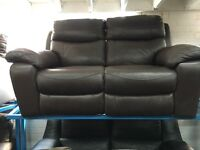 New / Ex Display LazyBoy Brown Leather Recliner 2 Seater