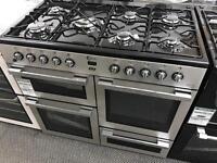 New Graded Flavel 100cm Duel Fuel Range Cooker - Silver