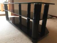"Tv Stand black glass suitable for up to 60"" LCD"