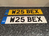 Private Registration Number W25 BEX
