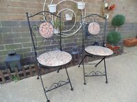 2 CAST IRON GARDEN CHAIRS IN EXCELLENT CONDITION £25 FOR THE PAIR