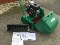 Qualcast Classic 35SK Petrol Lawnmower Rear Roller Fully Serviced With Scarifier Cassette