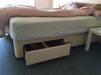 Divan base for a double bed with four drawers