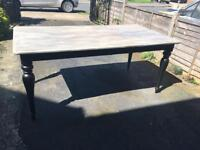 Beautiful up cycled rustic dining table