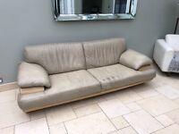 Italian Leather Nattuzzi Sofa 237cm x 100 3/4 Seater