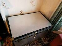 Vintage Storage Trunk by Leigh Luggage