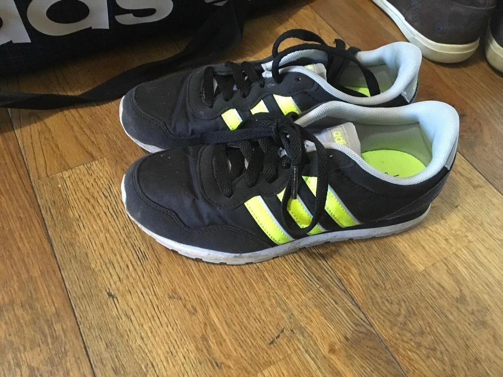 918035f36a ADIDAS Black & Yellow Trainers. Kids size 3. Darlington, County Durham ...