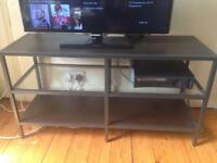 Nice dark wood and glass tv unit