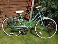 """Vintage Emmelle Wayfarer GT3 ladies bike Bicycle in jade green - circa 1989 - 20"""" frame"""