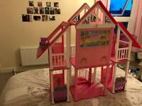 Barbie house accessories and dolls