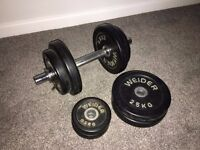 Weider Dumbbell with extra weights