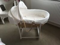 Moses basket with stand. Excellent condition, smoke and pet free home. Collection only.