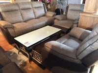 New** Top quality 3+1+1 reclining suite - one chair electric - BARGAIN