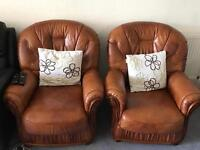 Full leather 3 piece suite