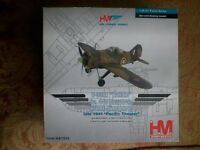 Hobby Master Die cast Brewster Buffalo Aircraft.