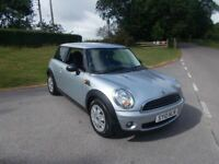 2010 10 MINI FIRST 1.4 3 DOOR HATCHBACK IN BRIGHT SILVER CALL 07791629657