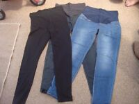 Maternity bundle - Includes 2 pairs of skinny jeans from H&M, 2 leggings, 2 dresses and 3 tops
