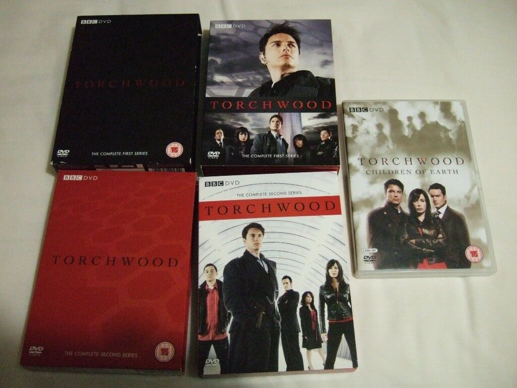 dvd's torchwood series 1.series 2.and children of the