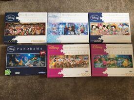 6 Disney 1000 Piece jigsaws