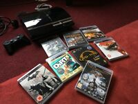 PS3 Sony Playstation 3 60GB Blu ray player (PS2 games compatible) + 10 game bundle pack