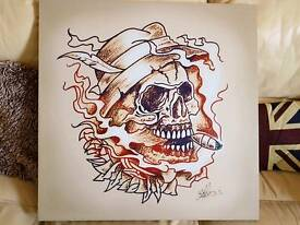 Skull picture from tattoo shop
