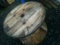 Wooden Cable Drum - 90cm disc diameter, 65cm high