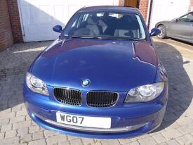 Bmw 1 series 118d 2.0 SE 2007 5 door Blue