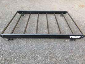 Universal Thule luggage roof rack with all fixation brackets in excellent codition. Very stabletable