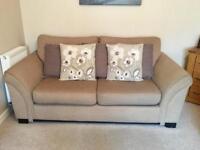 x2 Three-Seater Sofas and Storage Footstool