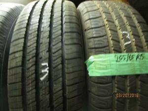 205/65R15 2 ONLY USED MATCHING GOODYEAR TIRES