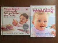Baby weaning recipe books