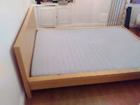 Free Double Bed + clean mattress