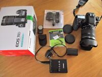 Canon EOS 70D kit with 18-135 STM lens plus extras.