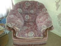 1990s retro 3 seater sofa and arm chair