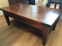 Solid Dark Oak Coffee table - make me an offer!