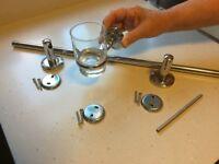BATHROOM ACCESSORIES INC. TOWEL RAIL AND FITTINGS ETC