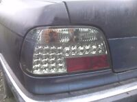 BMW 7 Series E38 95-02 clear black Tail Light Rear Lamp Set left and right LED