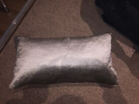 Set of two cushions smoke/silver