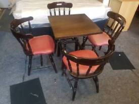 Table & Chairs - Concorde Interiors Dark Wood Pub Table & 4 Chairs