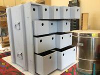 Up cycled army surplus storage box