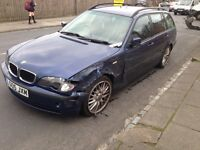 Bmw e46 320d mystic blue breaking for spares