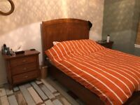 Kingsize Bed and Matching Bedside Cabinets For Sale (separates or set)