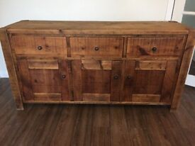 VERY HIGH QUALITY -- 160L X48W SOLID WOOD SIDEBOARD