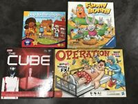 Children's games bundle - The Cube, Operation, Funny Bunny and Pop to the shops