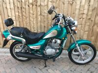 Hyosung cruise II 2003 125cc 1 own 3500 miles 12 months mot Honda Suzuki Yamaha bike chopper